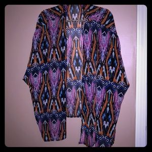 Colorful tribal kimono; like new